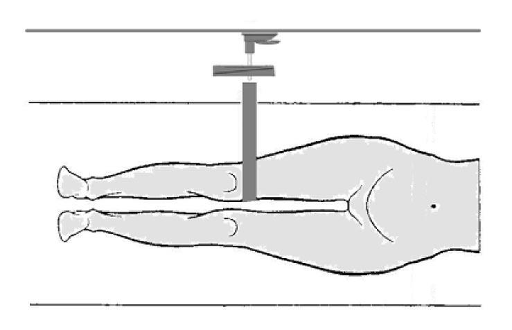 Messung der Muskelkraft in den unteren Extremitäten